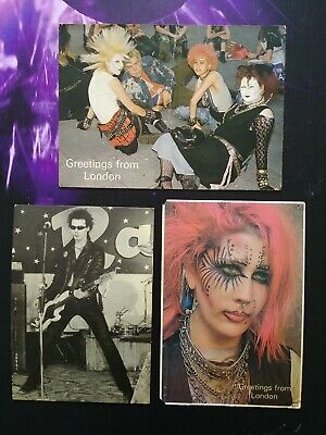 Lot 3 Cartes Postale Postcard Punk CPM Sid Vicious greetings From London rare