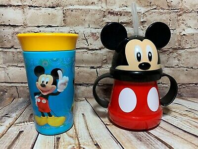 Mickey Mouse Baby Cups Tomy First Years Spoutless / Sassy Baby Trainer Soft Tip