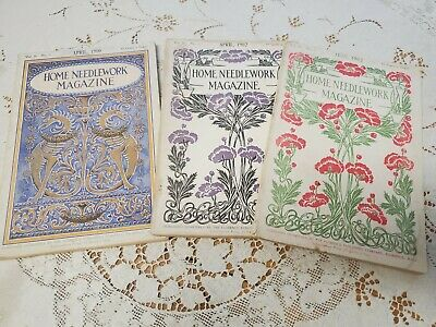 Home Needlework Magazine July 1902 Purses and Bags Sofa Pillows