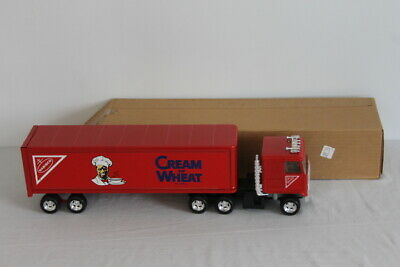 Vtg Ertl Cream of Wheat Nabisco Cereal Red Semi Truck & Trailer 1:24 Metal USA