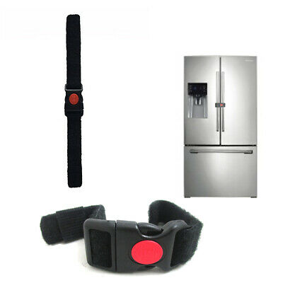 1 Safety Locking Strap Latch Appliance Refrigerator Cabinet Child Baby Proofing
