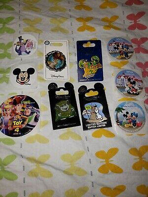 Disney Lot Of 4 Authentic Pins, And More To Start Your Trading Or Collecting