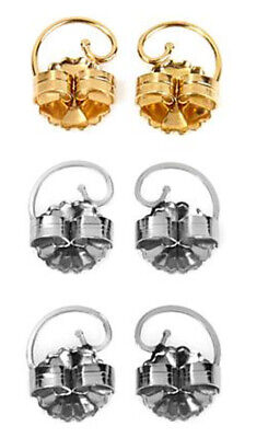 Levears™ 1 Pair Gold-Plated and 2 Pair Stainless Steel Earring Lifts HSN $60