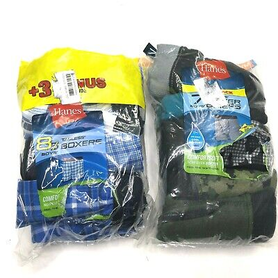 NWT 14 Pair of BOYS Boxers & Boxer Briefs - HANES - SIZE M 10/12 - Wicking
