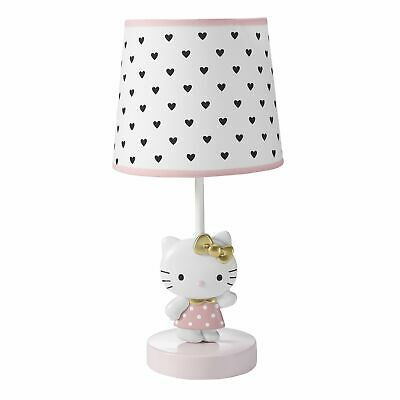 Bedtime Originals Hello Kitty Luv White/Pink Nursery Lamp with Shade & Bulb