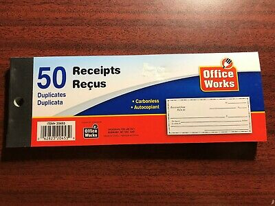 New - 50 Duplicates  Receipts Book (Fast Canadian Shipping) #20453