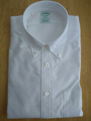 NWOT Brooks Brothers White Supima Button Down S Small Regent 15-32 MSRP $140