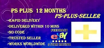 Ps Plus 12 MONTH PSN PLUS - 365 DAYS PLUS - [NO CODE - Trusted Seller - Rapid )