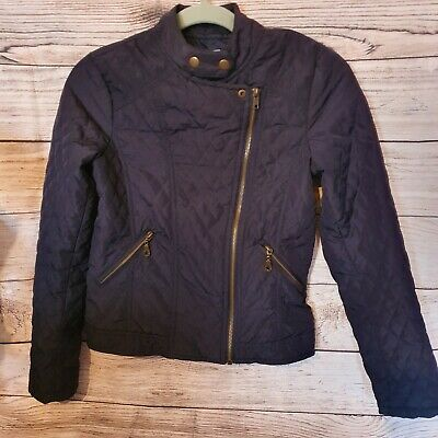 Girls BHS blue quilted spring jacket age 12-13 years 152-158cm lightweight BB1