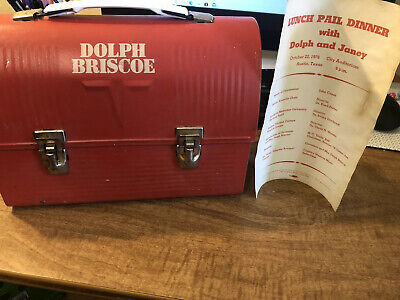 Dolph Briscoe Lunchbox with Itinerary/Program