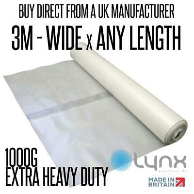 Extra Heavy Duty 3m x 1000G Clear Polythene Sheeting - DIRECT FROM MANUFACTURER