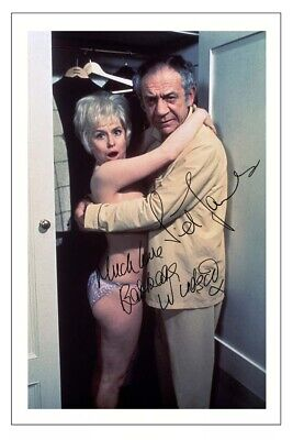 Barbara Windsor & Sid James Signed Photo Print Autograph Carry On
