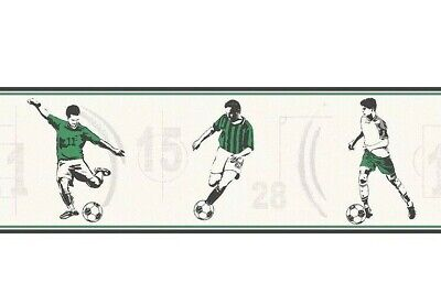 York Red Soccer Ball Wall Border ZB3172BD Multiples Available
