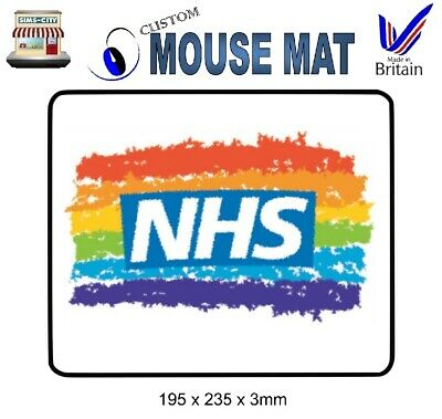 Charity Sale Nhs Heros Rainbow Fabric High Quality Mouse Mat Mat002