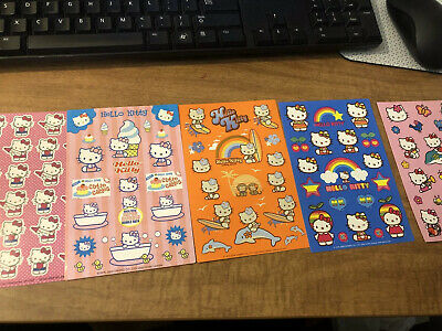 2004 To 2007 Vintage Sanrio Hello Kitty Stickers New 5 Sheets