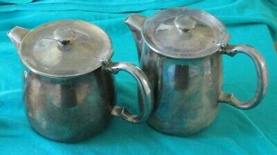 Vintage KENT Silver Plate Teapot And Hot Water Jug Coffee Pot