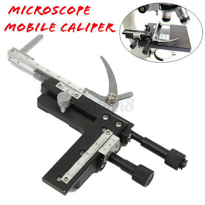 Microscope Attachable Mechanical Moveable Stage Mobile Caliper Scale X Y Vernier