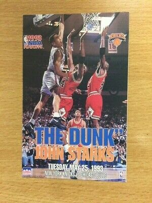 "JOHN STARKS ""THE DUNK""  NEW YORK KNICKS STARLINE Posters MINI Promo Piece 3x5"