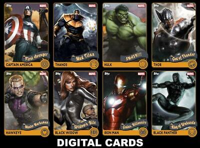 Topps Marvel Collect RETRO 2020 Series 1 [8 CARD SET] FAST DELIVERY!