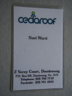 Cedaroof Dandenong Noel Ward Business Card