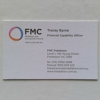 FMC Frankston Mediation Tracey Byrne 0397840698 Business Card
