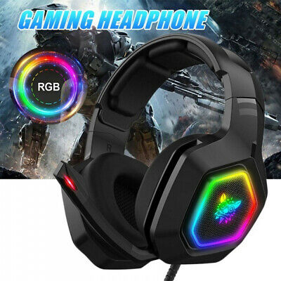 K10 Stereo Bass Surround RGB Gaming Headset with Mic for PS4 Xbox One PC HOOT
