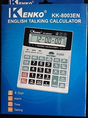 Brand New Quality 12 Digit English Talking Calculator LARGE NUMBERS  SHIPS Fast