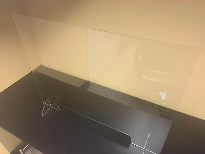 SNEEZE GUARD Acrylic Plexiglass Table Desk Checkout counter Shield 49.99 - 59.99