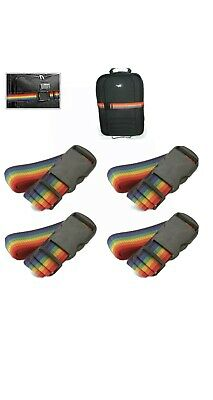 Travel Luggage Suitcase Strap Baggage Backpack Bag Rainbow Color Belt