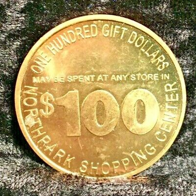 Northpark Shopping Center $100 Gift Dollars Coin