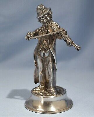 Spanish Art Deco Style Sterling Silver Figure of a Musician/Violinist 20th C.