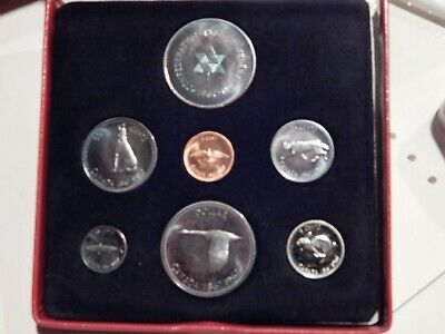 1967 Canada 6 Coin Proof Set Plus Silver Medal In Original Red Box