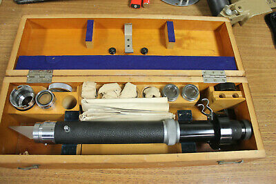 CARL ZEISS PRECISION DIPPING REFRACTOMETER  IN WOODEN CASE 40913  Mint Cond.