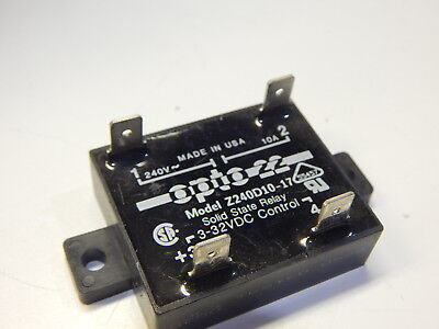 Opto 22 Z240D10-17 Solid State Relay Control 3-32Vdc Out 240Vac 10A