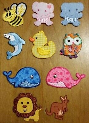 1 x BEE, ELEPHANT, DOLPHIN, OWL, IRON ON PATCH, From 3cm To 5.5cm, Free Post