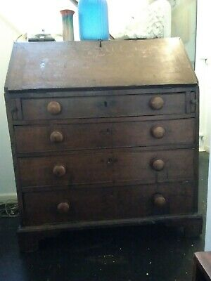 Antique oak bureau.18th century farm house bureau.Great patina & character.
