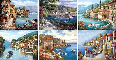 Painting By Numbers Kit Includes Paints / Brush Board Boats Seascapes Landscapes