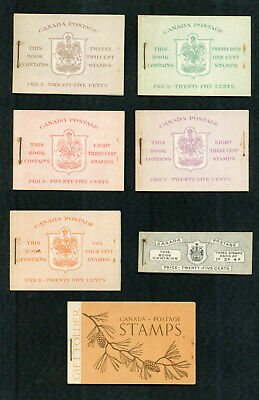 Canada War Issue Lot Of 7 Booklets F-Vf **
