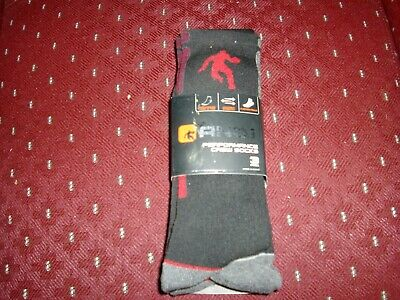 AND1 Performance Crew Socks Shoe Size 6-12.5 BLACK / RED 3 Pack