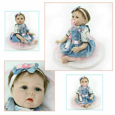 "22"" Newborn Cute Baby Doll Christmas Gift Vinyl Silicone Lifelike Kids Toddler"