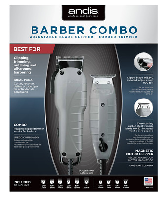 Andis Barber Combo ( ENVY + T Outliner ) #66325  Powerful clipper, trimmer