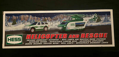 HESS 2012 COLLECTIBLE TOY TRUCK Helicopter and Rescue Toy With LIGHTS & SOUNDS