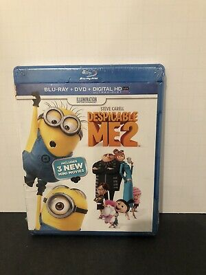 Despicable Me 2 (Blu-ray + DVD + Digital HD Ultraviolet)  NEW & Sealed