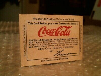 1960/'s Unused Free Coca-Cola Coupon Fron a Drive In Theater Vintage 1950/'s