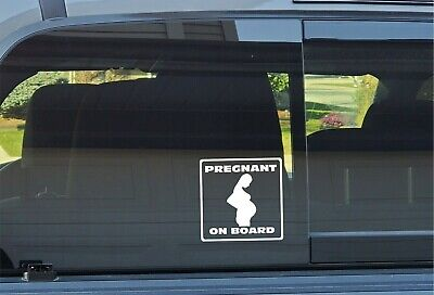 """""""Pregnant On Board"""" Decal **FREE SHIPPING**"""
