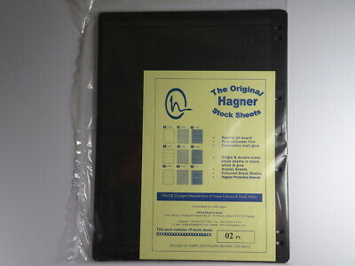 Hagner Stock Sheets Single Sided 2 Strip Packet of 10 Pages