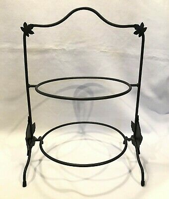 Longaberger Wrought Iron Two Pie Server Stand ~ Maple Leaf ~ # 74004 NEW in Box