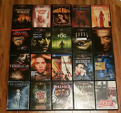 /822 22x Classic 70s 80s 90s Horror & Sci-Fi Film MGM & Kino DVD Lot Rare & OOP
