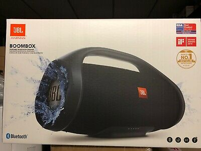 JBL BOOMBOX Waterproof Portable Bluetooth Wireless Speaker -Black UK Model