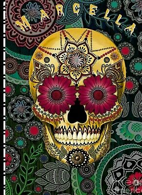 """Password/Web Address Book 5"""" X 7"""" """"Day of the Dead Gold"""